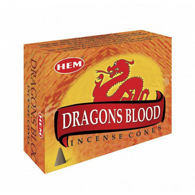 Encens Dragons Blood HEM boite 10 cônes