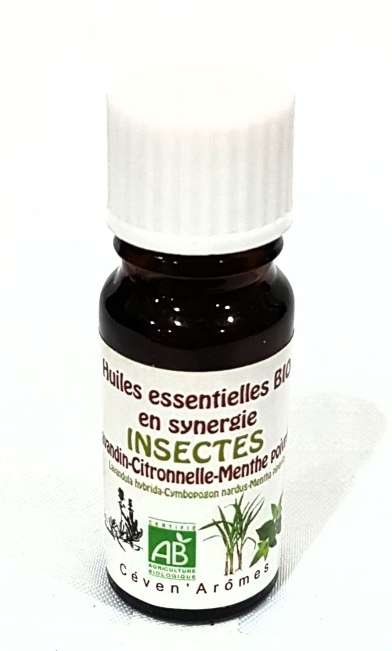 Synergie huiles essentielles anti insectes bio 10ml CEVEN AROMES